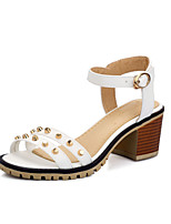 Women's Shoes Chunky Heel Open Toe Sandals Dress Black / Blue / Pink / White