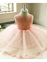 2016 New style A-line Knee-length Flower Girl Dress-Chiffon / Lace Sleeveless