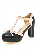Women's Shoes Leatherette Chunky Heel Heels Heels Wedding / Office & Career / Party