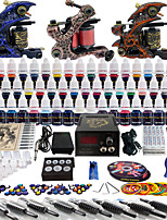 Solong Tattoo Complete Tattoo Kit 3 Pro Machine Guns 54 Inks Power Supply Foot Pedal Needles Grips Tips TK353