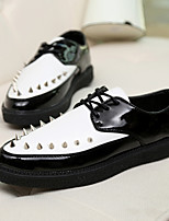 Men's Shoes Casual Patent Leather Oxfords Black / Brown / Red / White