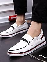 Scarpe da uomo - Sneakers alla moda - Tempo libero / Casual - Finta pelle - Nero / Blu / Bianco