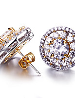 Top Quality zirconia stud earrings Deluxe Prong Setting Cubic Zircon Brass Bridal Earrings Jewelry Lead Free