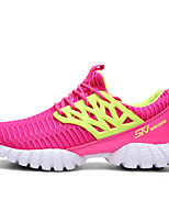Women's Shoes Casual/Travel/Athletic Fashion Sneakers Tulle Leather Shoes Fuchsia/White/Black