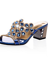 Women's Shoes Chunky Heel Slingback / Slippers / Open Toe Sandals Casual Blue