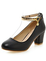 Women's Shoes Leatherette Chunky Heel Heels Heels Office & Career / Party & Evening / Casual Black / Blue / Pink / White