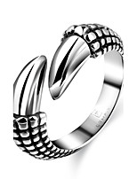 Punk Mens Silver Plated Rings Never Fade 316L Stainless Steel Animal Claw Ring Men Jewelry Anel Masculino Anillos
