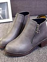Chaussures Femme-Extérieure / Décontracté-Noir / Marron / Gris-Talon Bas-Rangers / Bottes à la Mode-Bottes-Similicuir