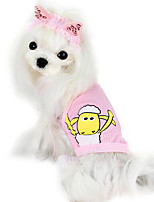 Dog Shirt / T-Shirt Pink / Yellow Summer Fashion