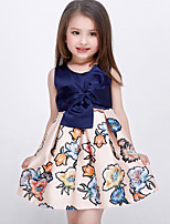 Girl's Multi-color Dress Rayon Summer / Spring / Fall