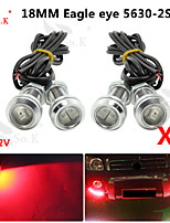 4X 18MM 9WLED Eagle Eye Daytime Running DRL Backup Light Fog Car Auto Red 12V