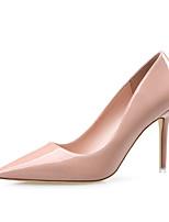 Zapatos de mujer-Tacón Stiletto-Tacones / Puntiagudos / Punta Cerrada-Tacones-Vestido-Semicuero-Negro / Rojo / Blanco