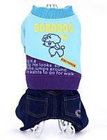 Manteaux / Combinaison-pantalon-Chien-Hiver / Printemps/Automne-Rouge / Noir / Vert-Cowboy / Garder au chaud / ModeLettre et chiffre /