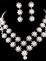 Conjunto de joyas Perla Artificial Aleación De mujeres