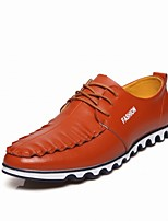 Men's Shoes Wedding / Office & Career / Party & Evening / Athletic / Casual Leather Oxfords Black / Yellow / Red