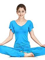 Ioga Conjuntos de Roupas/Ternos Calças + Tops Respirável / Suavidade Stretchy Wear Sports Mulheres - Outros Ioga / Pilates