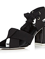 Women's Shoes Leather Chunky Heel Heels / Peep Toe / Slingback / Ankle Strap Sandals Dress / (Genuine leather)
