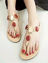 Women's Shoes Leatherette Flat Heel Comfort Sandals Casual Blue / Purple / Red