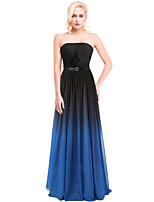 Cocktail Party / Formal Evening Dress - Silver / Multi-color / Ocean Blue Ball Gown Strapless Floor-length