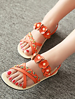 Women's Shoes Heel Peep Toe / Toe Ring Sandals Outdoor / Dress / Casual Black / Blue / White / Orange