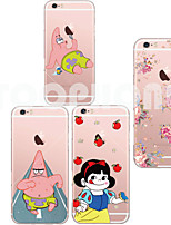 For iPhone 6 Case iPhone 6 Plus Case Case Cover Transparent Pattern Back Cover Case Cartoon Soft TPU foriPhone 6s Plus iPhone 6 Plus