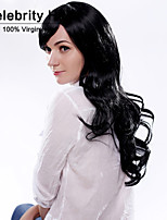 Fashion Curly Black Color Waves of High Quality Synthetic Hair Wigs.