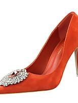 Calçados Femininos-Saltos-Saltos / Bico Fino-Salto Agulha-Preto / Cinza / Laranja-Camurça-Casamento / Social / Festas & Noite