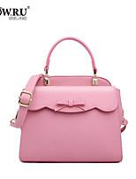 HOWRU ® Women 's PU Tote Bag/Single Shoulder Bag/Crossbody Bags-Black/Pink/Blue