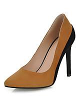 Scarpe Donna-Scarpe col tacco-Ufficio e lavoro / Formale / Casual-Tacchi-A stiletto-Di pelle-Tessuto almond