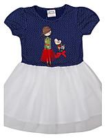 Children's Dress Kids Summer Short Sleeve Girls Dresses(Random Printed)