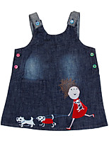 Children's Dress Sleeveless Summer Clothes Cartoon Dress Girls Dresses(Random Printed)