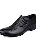 -Для мужчин-Свадьба Повседневный Для вечеринки / ужина-Дерматин-На плоской подошве-Формальная обувь-Туфли на шнуровке