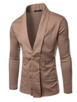 Suits Slim Fit Notch Single Breasted One-button Cotton Blend Solid 1 Piece Black / Coffee / Navy Blue