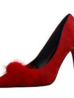 Damenschuhe-High Heels-Kleid-Wildleder-Stöckelabsatz-Absätze / Spitzschuh / Geschlossene Zehe-Schwarz / Braun / Rosa / Rot / Grau /