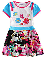Girl's Dress Baby Girl Summer Clothes Short Sleeve Dress Children Dresses(Random Printed)