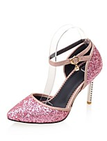 Women's Shoes Leatherette Stiletto Heel Heels Heels Wedding / Office & Career / Party & Evening Black / Pink / Gold