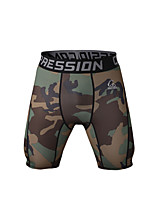 Men's Outdoor Indoor Camouflage Running Cycling Tight Shorts Quick Drying Compression Running Training Shorts