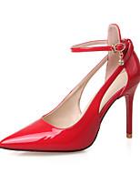 Scarpe Donna - Scarpe col tacco - Formale - Tacchi / A punta / Chiusa - A stiletto - Finta pelle - Nero / Rosso / Argento / Grigio