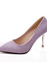 Chaussures Femme-Extérieure / Bureau & Travail / Habillé / Décontracté-Noir / Violet / Argent / Or-Talon Aiguille-Talons-Talons-Tissu