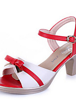 Women's Shoes Sandals Leatherette  Chunky Heel Office & Outdoor & Casual &Dress More Colors