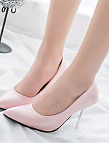 Women's Shoes Leatherette Stiletto Heel Heels Heels Wedding / Party & Evening Black / Pink / White