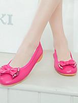 Women's Shoes Flat Heel Round Toe Flats Casual Black / Red / Beige