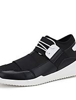 Черный / Красный / Белый / Серый-Мужской-На каждый день / Для занятий спортом-Тюль / Ткань-На плоской подошве-Удобная обувь / На плокой
