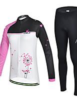 Conjuntos de Roupas/Ternos ( Branco ) - de Ciclismo / Motorbike - Mulheres -Respirável / Resistente Raios Ultravioleta / Secagem Rápida /