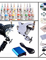Professional Begineer Tattoo Kit KL102 1 Machine With Power Supply Grips 28x5ML Ink needles