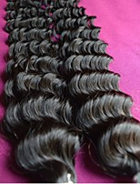 unprocessed 8a brazilian virgin hair deep wave style mixed 3pcs lot natural color for one hair new deep curly human hair
