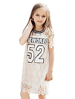 Girl's White Dress Cotton Spring