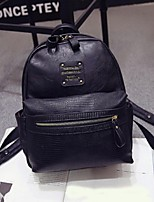 Women PU Bucket Backpack - Pink / Gray / Black