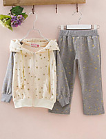 Girls' Casual/Daily Galaxy Sets,Cotton Spring Fall Long Sleeve Clothing Set