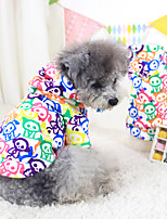 Dog Coat Red / White / Blue / Yellow Winter Fashion